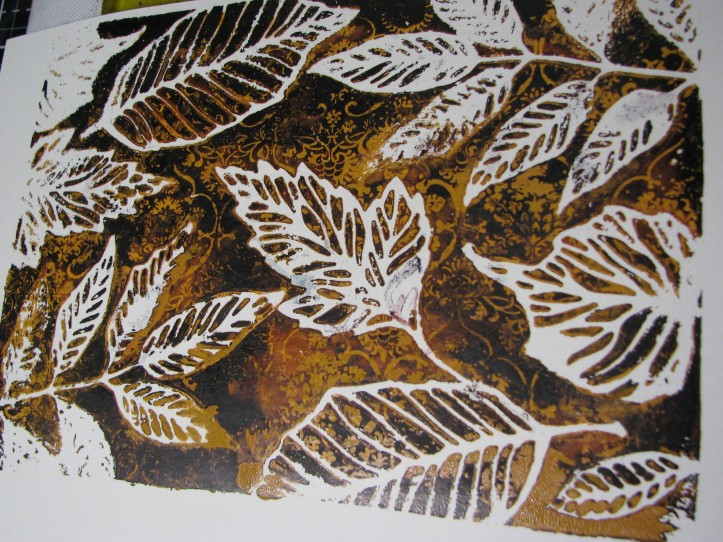 Leaves Gel Plate Print (11)
