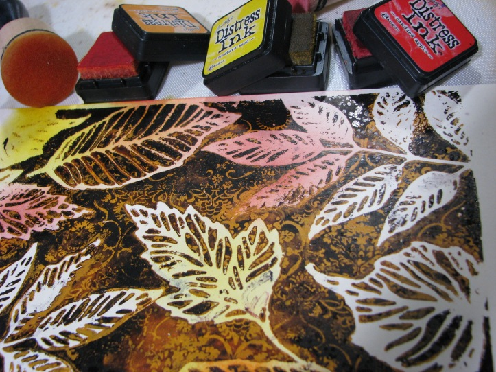 Leaves Gel Plate Print (12)