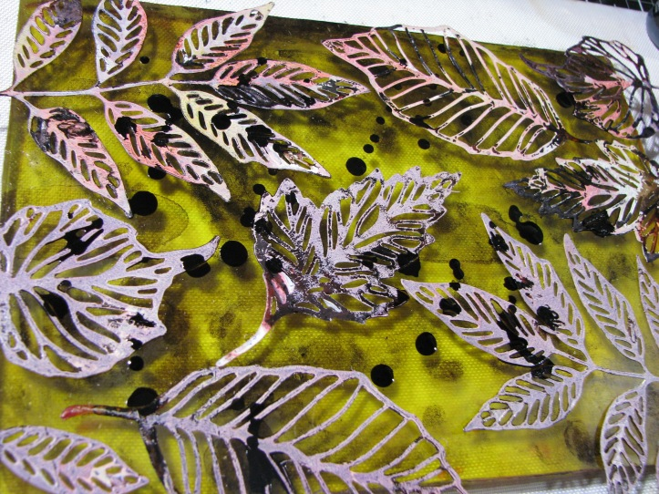 Leaves Gel Plate Print (4)