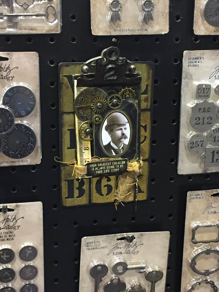 creativation2019 tim holtz clipboard 'oh those alph tiles' by wendy baysa (1)
