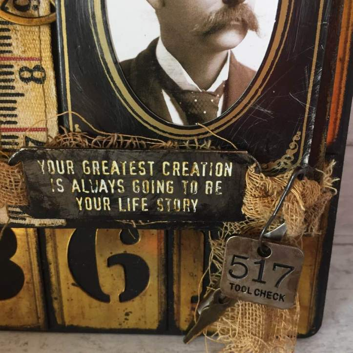 creativation2019 tim holtz clipboard 'oh those alph tiles' by wendy baysa (3)
