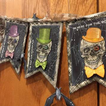 'Let's Party' Halloween Banner by Wendy Baysa using Tim Holtz Life of the Party Stamp Set (7)