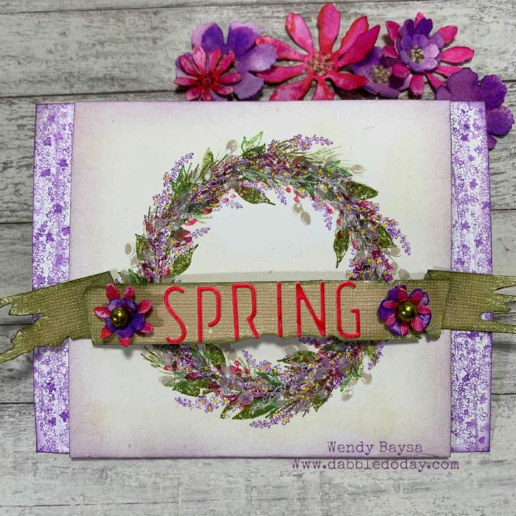 Spring Floral Wreath Card (1)