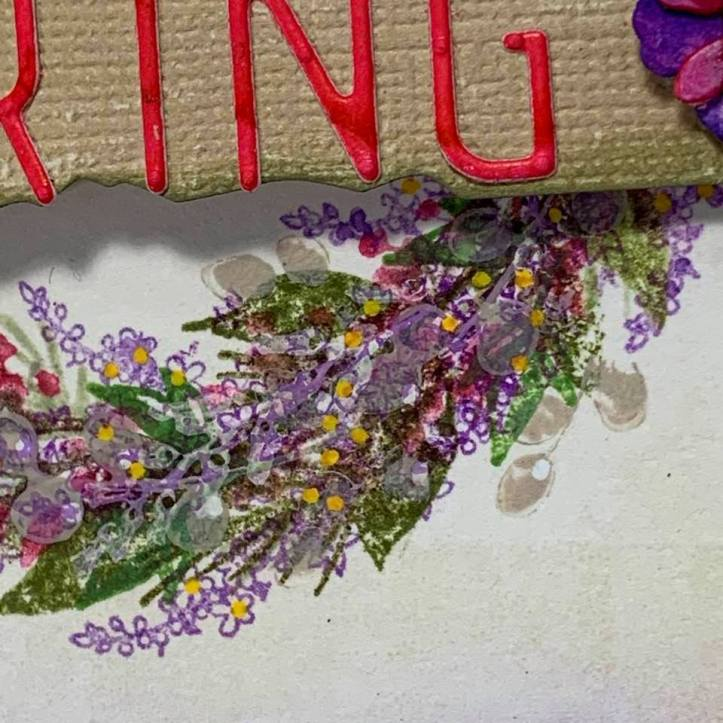Spring Floral Wreath Card (2)