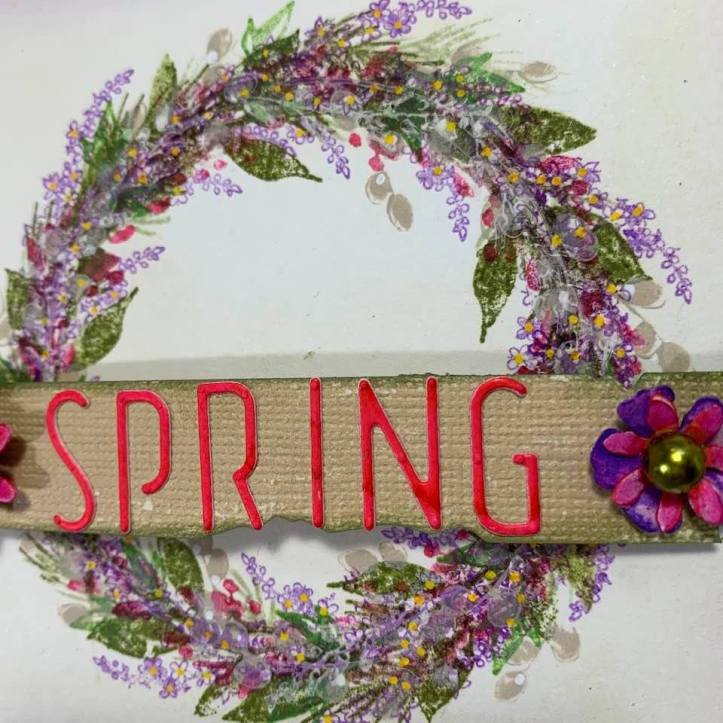 Spring Floral Wreath Card (5)