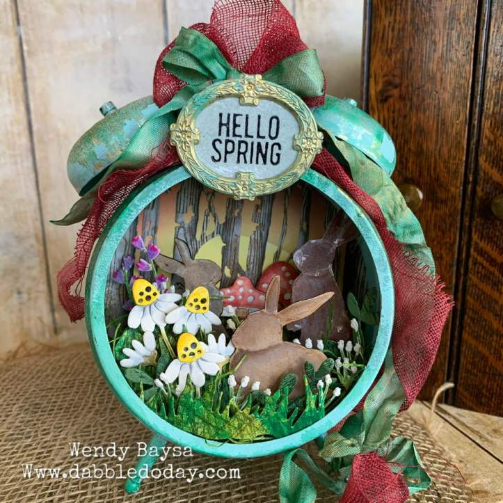 Easter Assemblage Clock by Wendy Baysa (1)